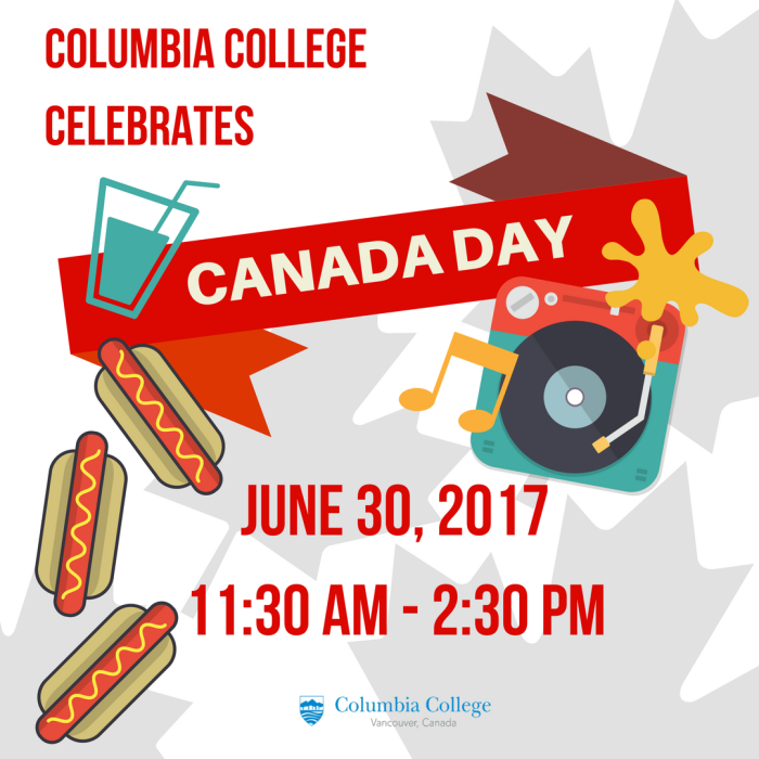 Canada Day at Columbia College
