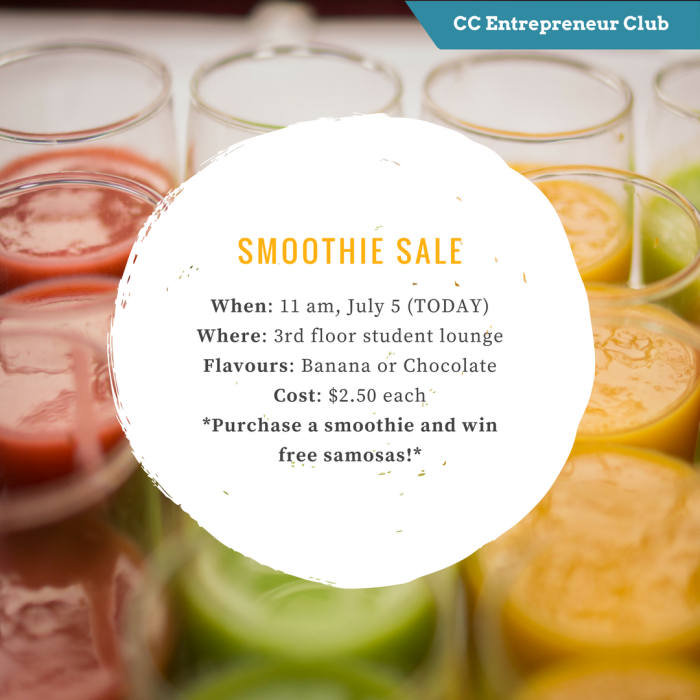 Smoothie sale