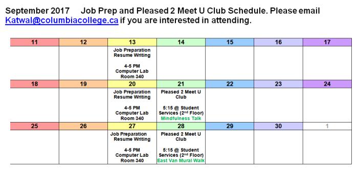 Pleased 2 Meet u Calendar