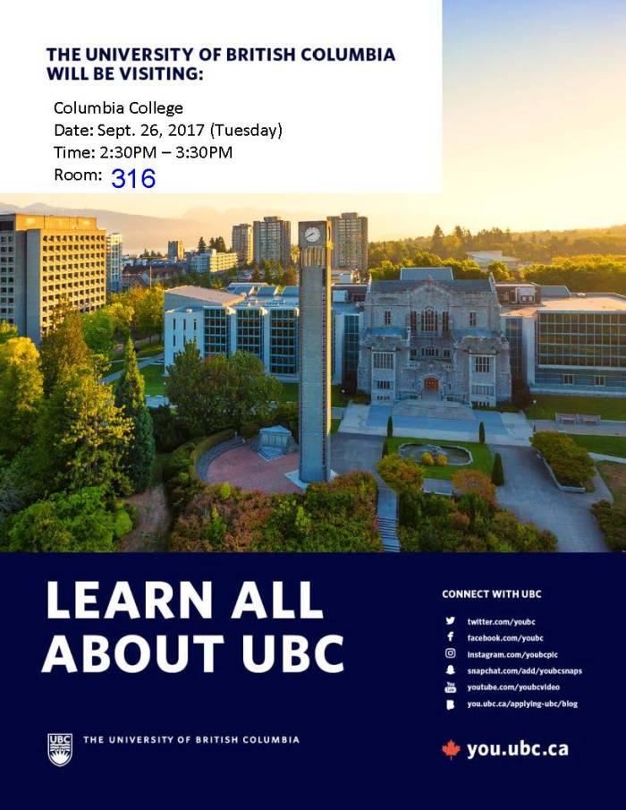 UBC visit poster