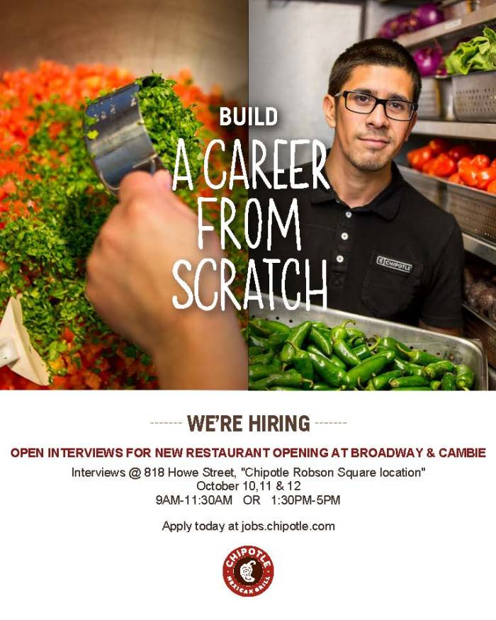 Chipotle job posting
