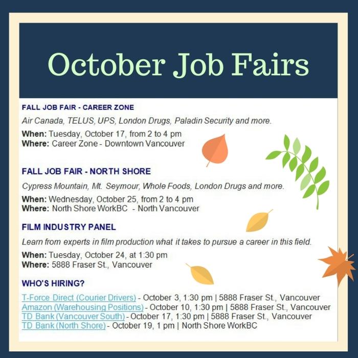 October Job Fairs