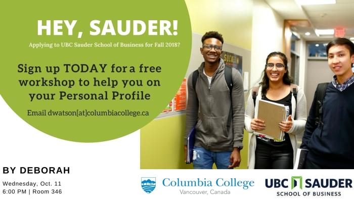 UBC Sauder workshop poster