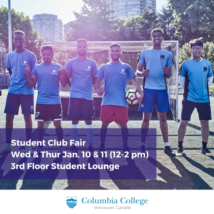 Student Club Fair Jan 2018