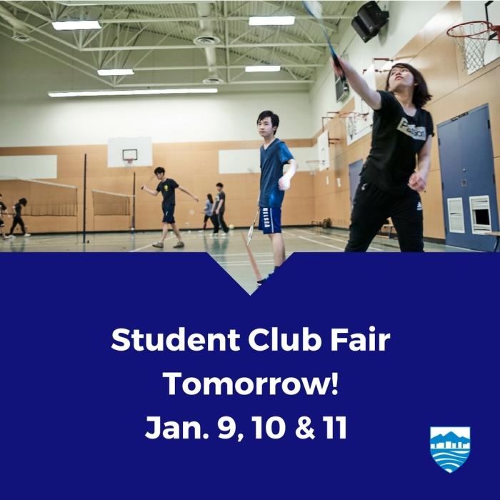 Student Club Fair Jan 2018
