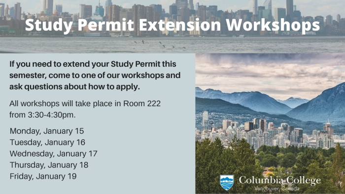 Study Permit Extension Workshops