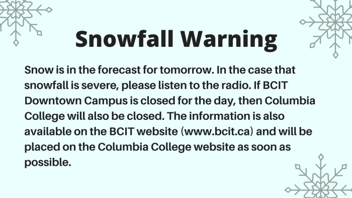 Snowfall Warning