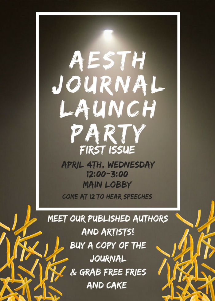Aesth Launch Party Poster