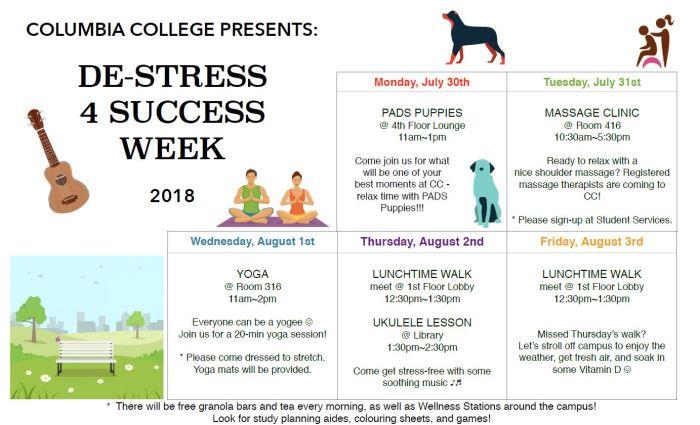 CC Destress for Success Poster