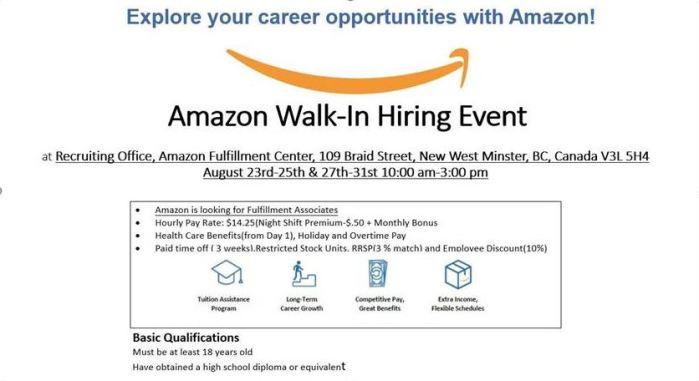 amazon walk in hiring.JPG