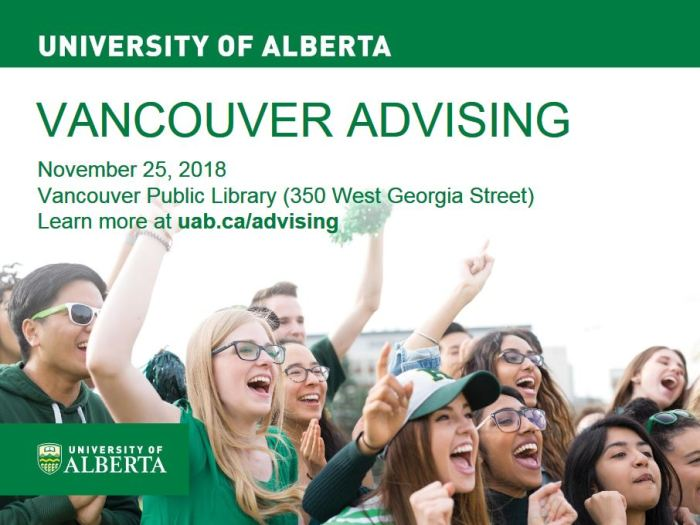 U of A info session Nov 2018